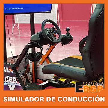 Simulador de Conducción y carreras, la última tecnología de Eventos BGP.