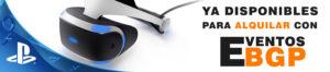 Alquiler Playstation VR Realidad Virtual Videojuegos con Eventos BGP