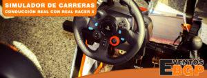Alquiler de simuladores para eventos Real Racer X