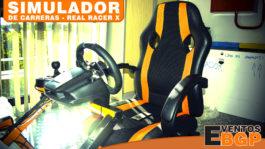 Fotografía diseño principal del simulador de carreras Real Racer X