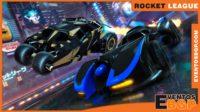 Banner Rocket League carreras y fútbol con coches.