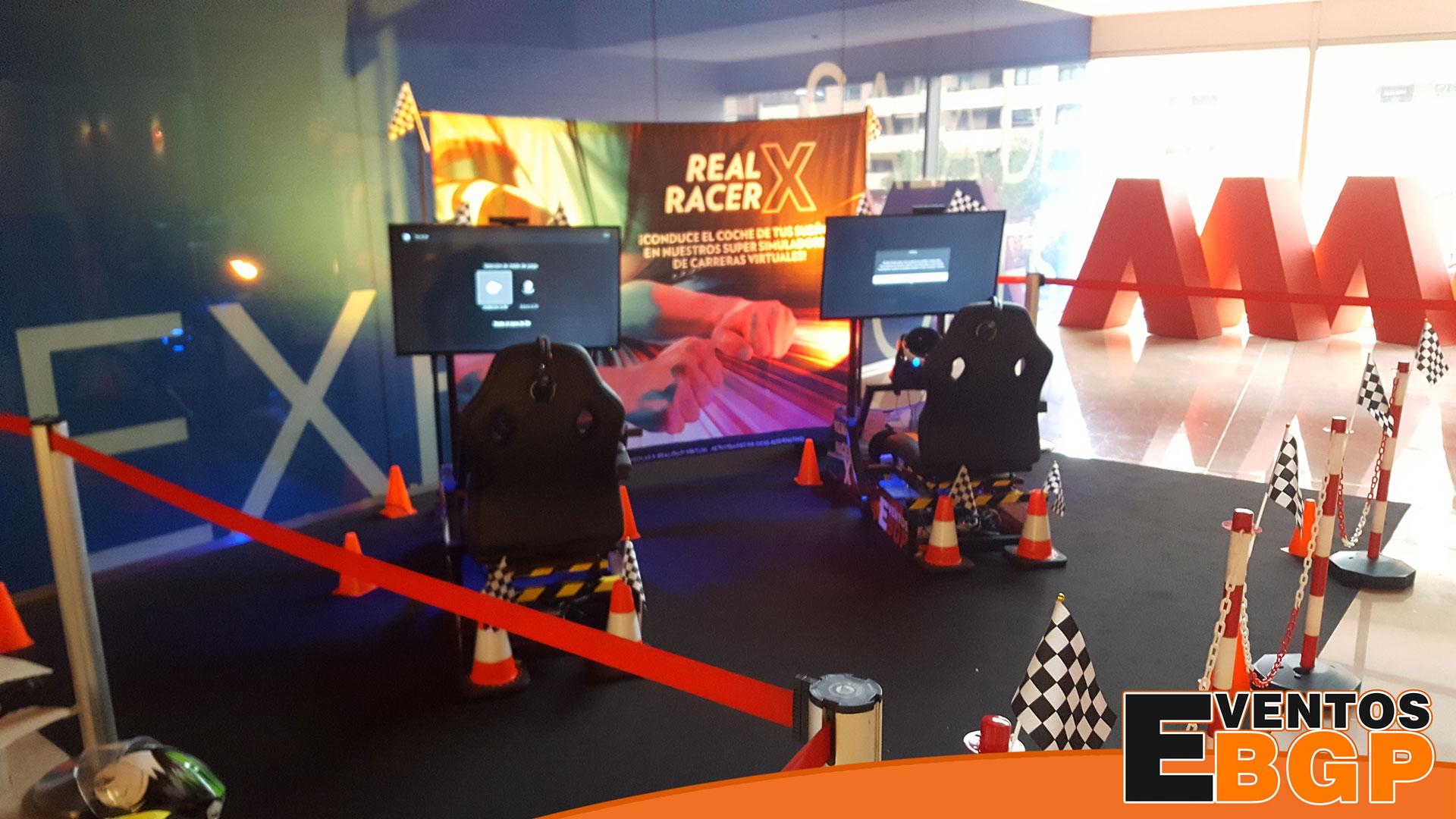 Centro Comercial Aragonia actividades con videojuegos y simuladores Eventos BGP.