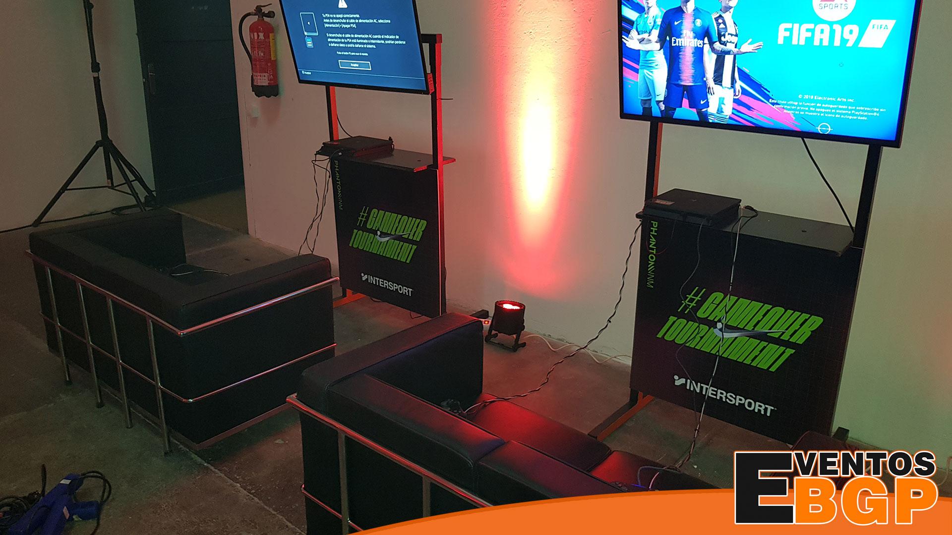 Videojuegos y futbol con Intersport y Nike gracias a TRO y Eventos BGP
