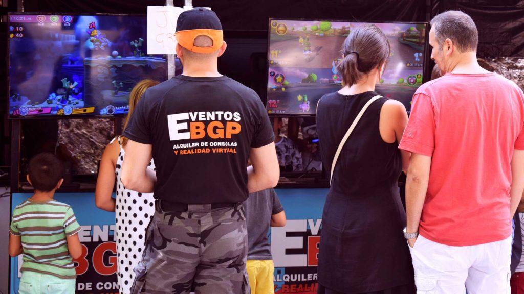 Eventos BGP con puestos de juego de Nintendo Switch