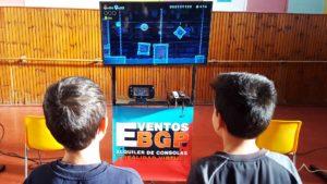 Consola WII-U en una actividad con videojuegos