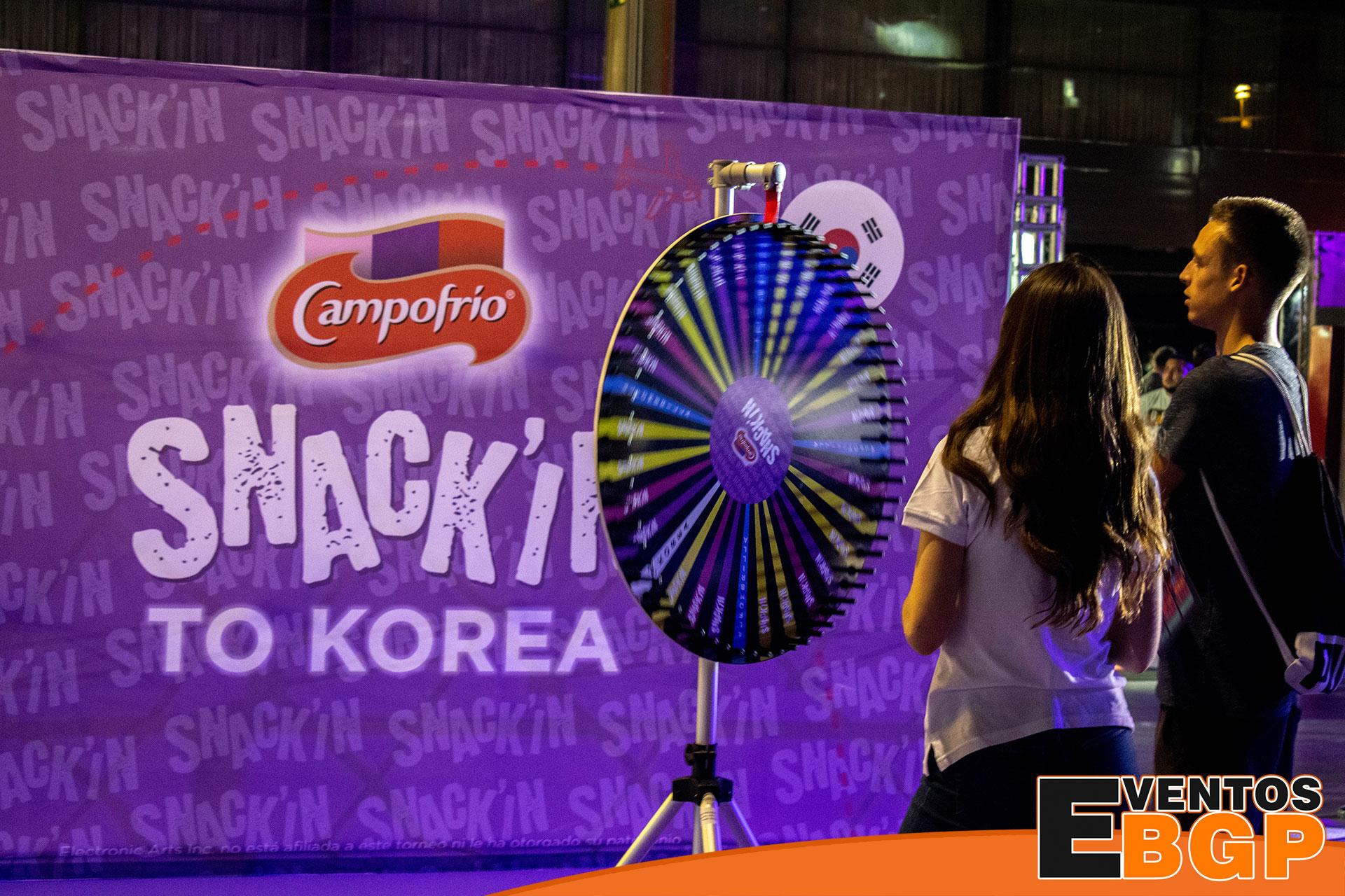 Ruleta de la suerte Campofrío en Dreamhack