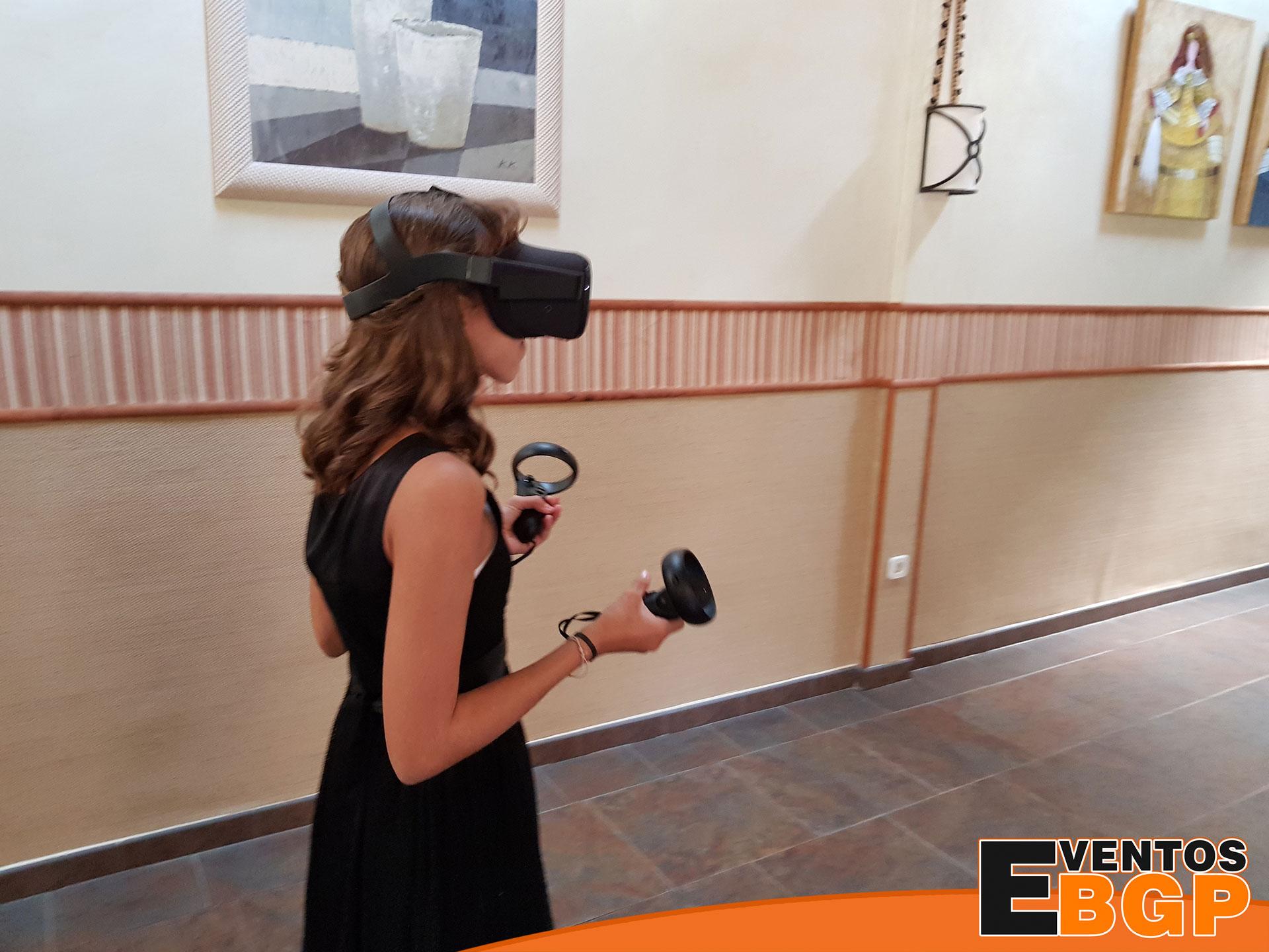 Gafas de realidad virtual con Eventos BGP