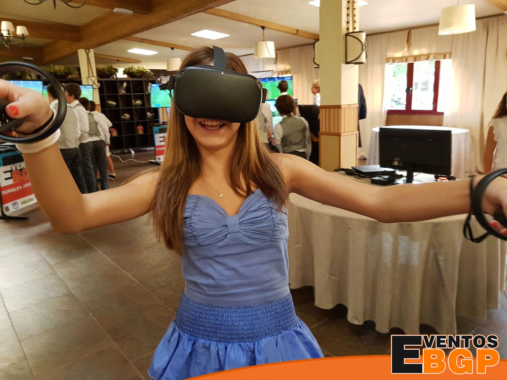 Realidad virtual aplicada en eventos corporativos con animación de ocio diferente y original