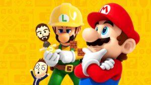 Super Mario Maker 2 pensativos