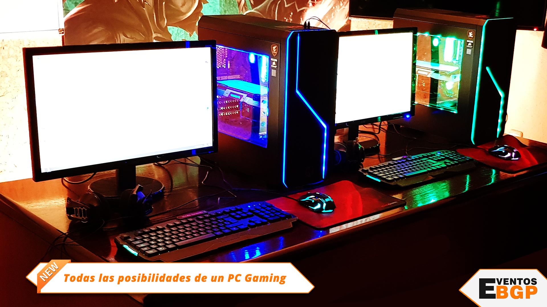 Posibilidades PC Gaming, talleres y cursos