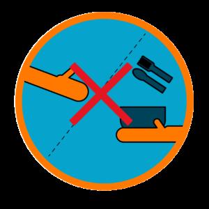No compartir utensilios - Icono COVID 19
