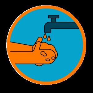 Lávate las manos - Icono COVID 19