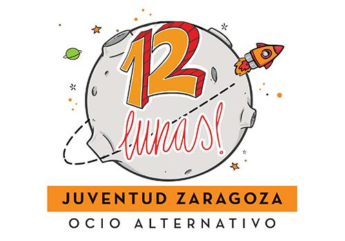 Logotipo en formato cuadrado de 12 Lunas de juventud Zaragoza
